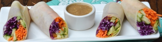 Salad Rolls with Coconut Wraps #raw #vegan #paleo @bettyrawker