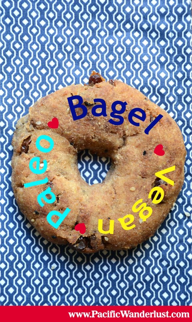 Paleo Bagel - Starch Free, Vegan, Recipe @PureandSimpleRecipes