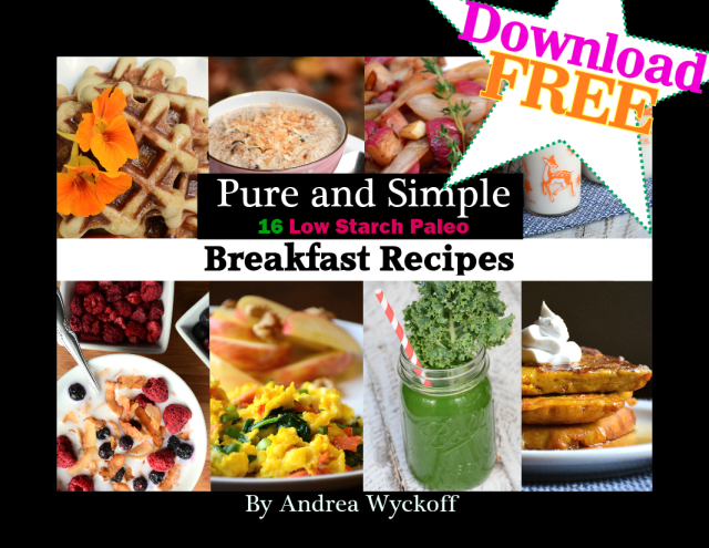 Free Breakfast Ebook! Easy, Delicious Paleo, Low Starch, Pure + Simple Recipes