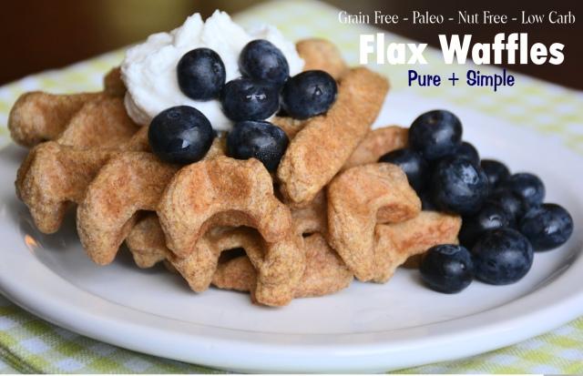 Flax Waffles - paleo - nut free - low carb - keto - vegetarian